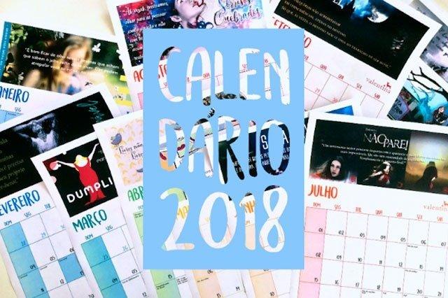 Calendário da Editora Valentina