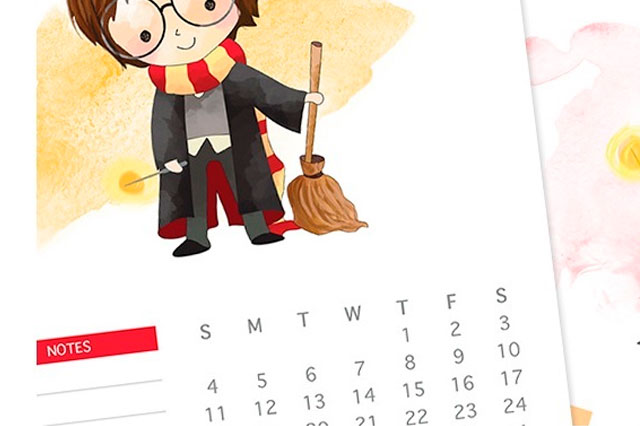 [FREEBIE] Calendários e Planner do Harry Potter de 2019