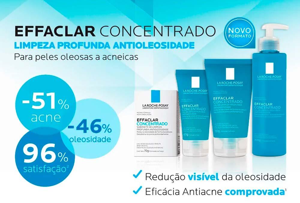 Opinião sobre o Effaclar gel concentrado de limpeza facial concentrado La Roche-Posay