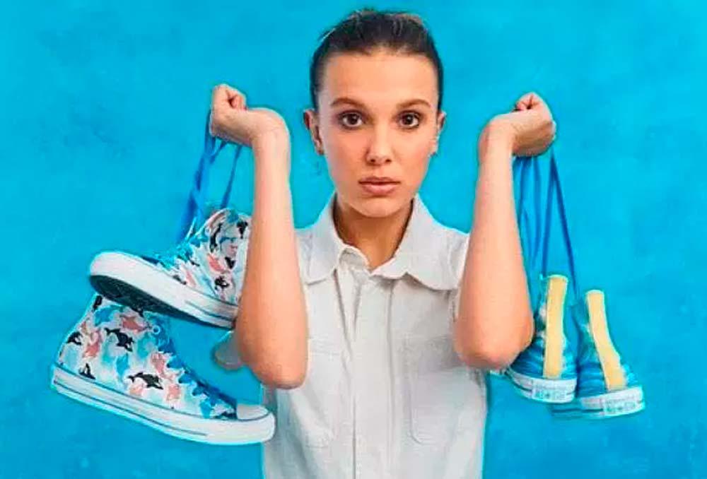 Millie Bobby Brown, estrela do seriado Stranger Things lança coleção de tênis Converse All-Star