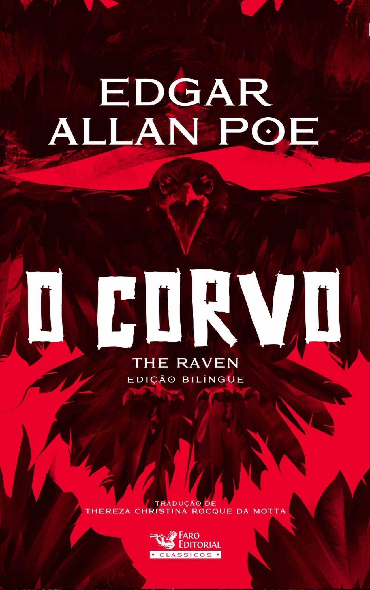 """Faro Editorial lança edição especial bilíngue de """"O Corvo"""" de Edgar Allan Poe"""